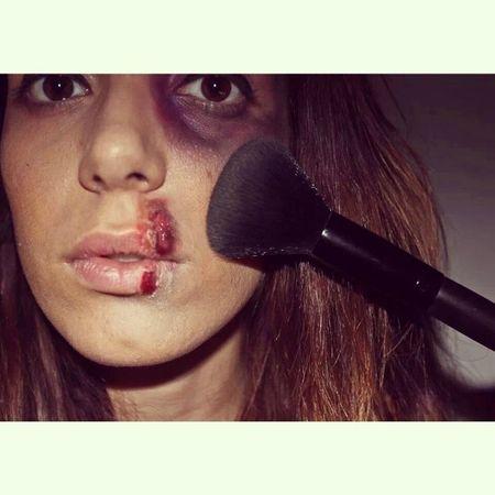 No te maquilles!! DENUNCIA!!! Makeup Love Sick 25 noviembre sister mypicture myfamily canonista canon600D myself