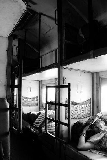 The Portraitist - 2015 EyeEm Awards Traveling Train Blackandwhite Monochrome People India OpenEdit Rajasthan Resting