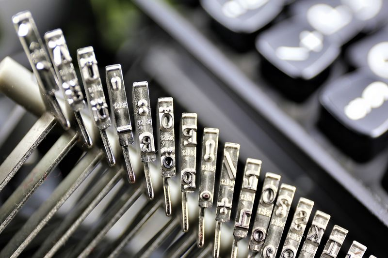 High Angle View Of Typewriter