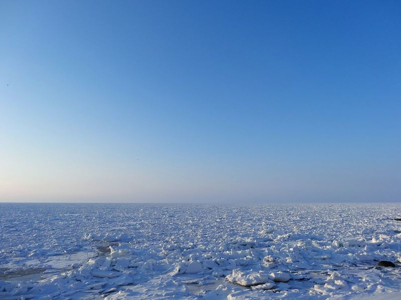 Ice froe on Shiretoko Cold Temperature Sky Nature Beach Clear Sky No People Snow Tranquil Scene Winter Outdoors Sand Day Beauty In Nature Drift Ice Ice Floe