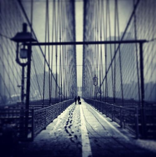 NYC Bridge Snow Travel Brooklyn Hollyday Gregphoto