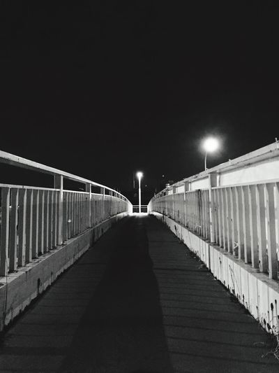 Darkness And Light On The Bridge At Night Walk This Way The Architect - 2015 EyeEm Awards