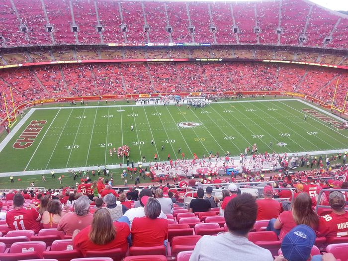 What an amazing View even from seats in the nosebleed section! Chiefskingdom Football Touchdown Stadium Seattle Seahawks Stadiums