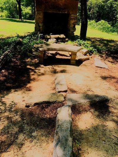 Stone altar at Clinton Nature Preserve, Douglasville, GA. Outdoors No People Stone Stone Fireplace Nature Cross Stone Ruins Built Structure Trees Beauty In Nature History Historic Ruins