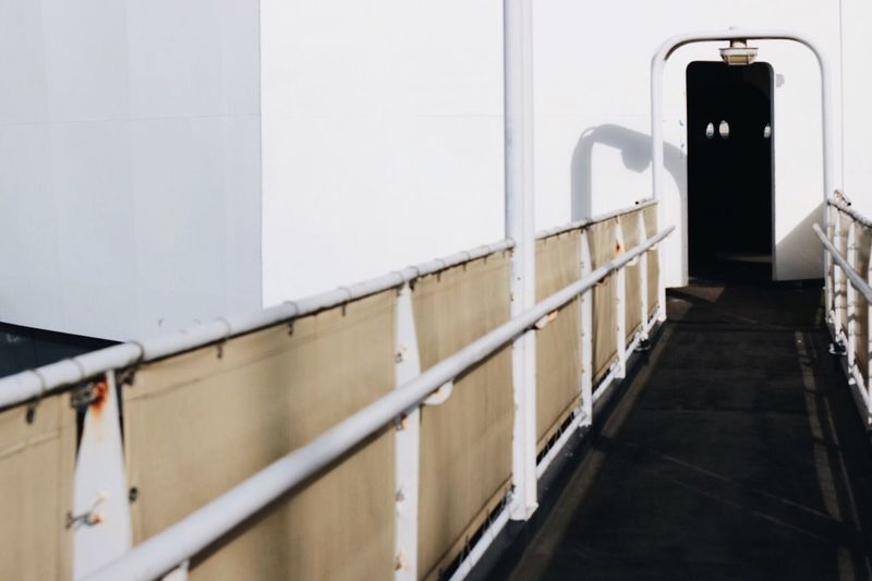 It's a carpark on a boat. Göteborg, Sweden Check This Out Gangway Gateway Gate Urbanexploration Urban Landscape Ship Entrance Exploring New Ground Door Hidden Places Simplicity Minimalism Minimalist Minimalmood Showcase March EyeEm Deutschland No People White