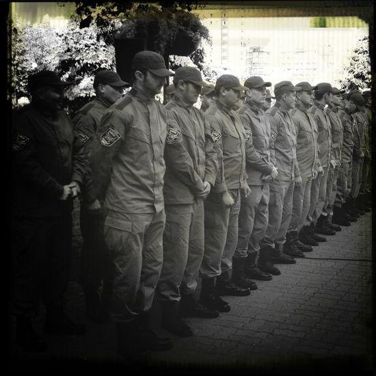 Батальон Киев-1 на построении у ОРГА Киев армия патриотизм