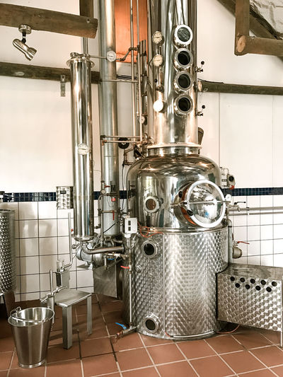 Stainless Steel Still Craft Distillery Day Distillation Distillery Factory Food And Drink Industry Indoors  Industry Machinery No People Pipe - Tube Stainless Still Technology