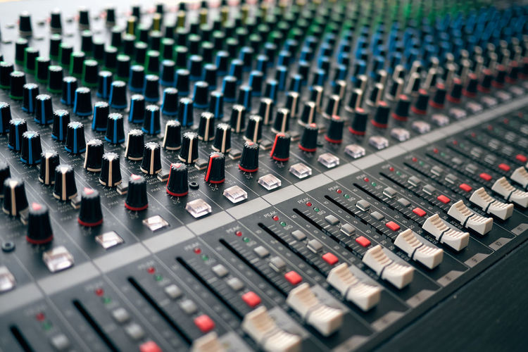 Close-Up Of Studio Equipment