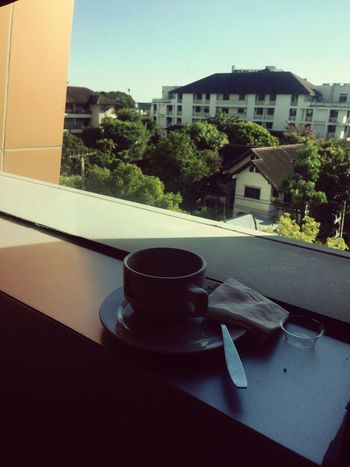 Architecture Drink Built Structure Building Exterior Food And Drink Refreshment No People Tree Close-up Day Freshness Coffee Time Emty Space Window View EyeEm Nature Lover Eyeem Coffee Moments Eyeem Coffee Lover Eyeem Coffee