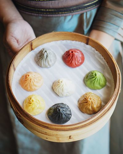 8 Flavors of Xiao Long Bao 😋😋😋 Food And Drink Food Real People Freshness Indoors  High Angle View Table Chinese Dumpling One Person Human Hand Close-up Plate Healthy Eating Chinese Food Dumpling  Ready-to-eat Dim Sum Human Body Part Day People
