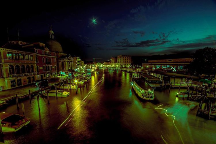 Venice Italy Water Night Built Structure Outdoors See The World Through My Eyes Romantic Travel Destinations Tourism Travel Italia Cityscape City By The Sea