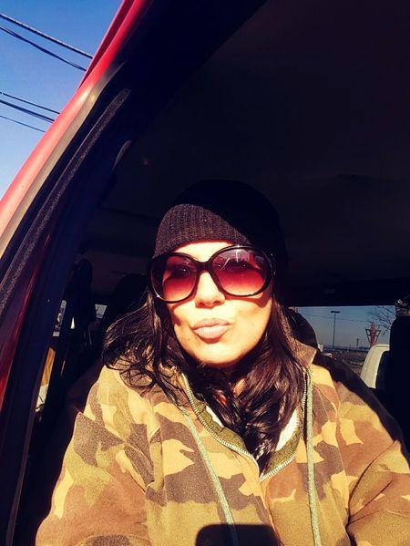 Selfmade Woman Selfienation Selfportrait Selfie Selfies Cheekbones Selfie ✌ Women Of EyeEm Lips Camouflage Camo Skicap Wool Hat Skullcap