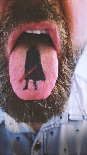 Dark Lord person Beard Jedi Tongue Out Tongue Face Sword Starwars Dark Lord One Person Close-up Real People Front View Communication Day Outdoors Human Lips People