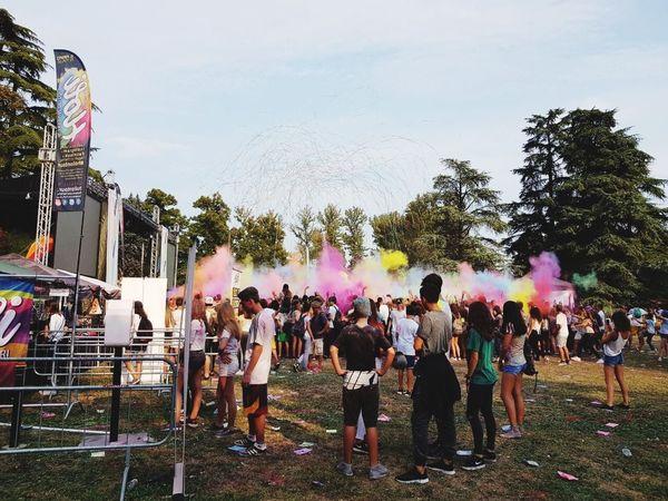 Holyfestival Holycolor Large Group Of People Real People Togetherness Sky Weekend Colorsplash Explosion Of Color WeekOnEyeEm Week Of Eyeem EyeEm Gallery The Week On EyeEm