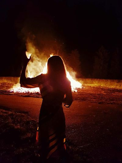 Portrait Woman Alcohol Light Light And Shadow France Party Night Real People Child Childhood One Person Silhouette Lifestyles Nature Burning Arts Culture And Entertainment Flame Bonfire Girls Fire