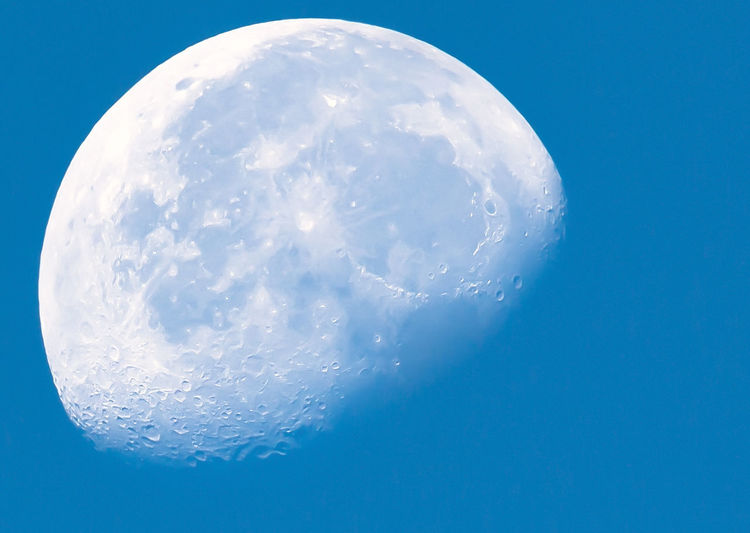 LunaBlü Moon Moon In The Sky Moon In Morning  Moon In Daylight Moon In Daytime Moon In The Day Waning Gibbous Blue Blue Moon Close-up Day Moon Moon In Sky Moon Surface Nature No People Outdoors Scenics Sky Waning Waning Moon