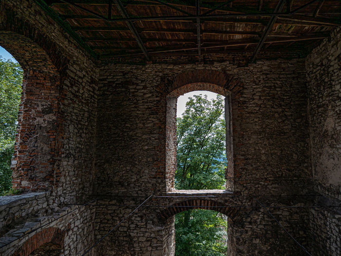 View of an abandoned built structure