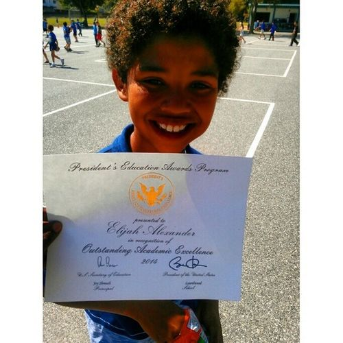 my son got the Presidential Award for Academic and leadership excellence Booyah Lickshawt Airhorn Booyakah