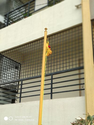 Built Structure Day No People Sport Outdoors Close-up Architecture Flag Pole Kannadarajyotsava Kannadigaru Yellow Red Love❤ EyeEmNewHere Adventures In The City Focus On The Story