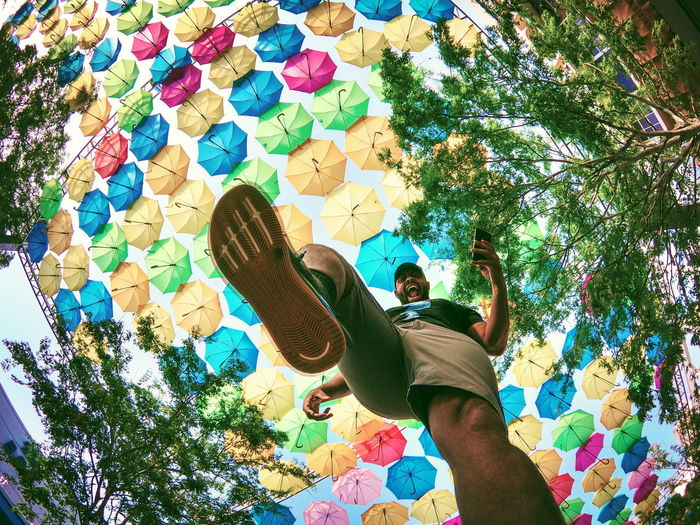 stepping into summer Promenade Coral Gables Project Umbrella Miami Fl Florida USA EUA America Art Step Shoes Gopro Ricardo Barbosa CFPRS Day Summer Play Go Tour Visit Visit Usa Summer In The City Multi Colored Low Section Full Length Tree #urbanana: The Urban Playground Be Brave 2018 In One Photograph Stay Out