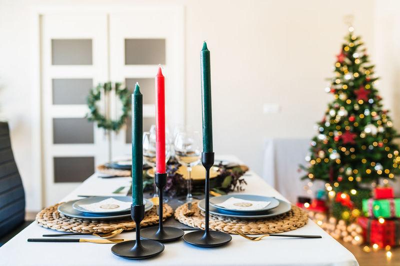 Christmas decoration on table