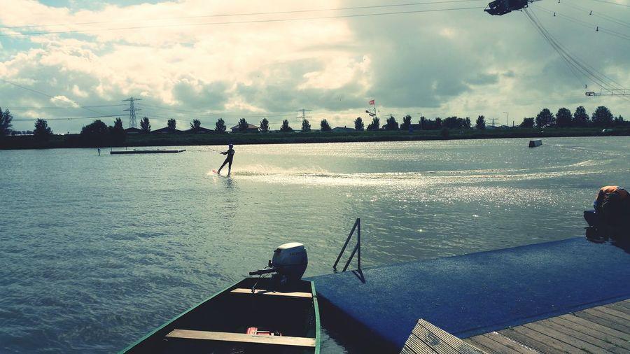 Hanging Out Relaxing Shotonsamsungs5 Enjoying Life Waterski Waterskating Clouds Waterlife Honselersdijk Wollebrand