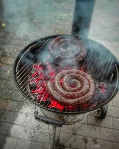 Red Smoke - Physical Structure Burning No People Food Braai Barbeque Grill Close-up Day Grilled Meat