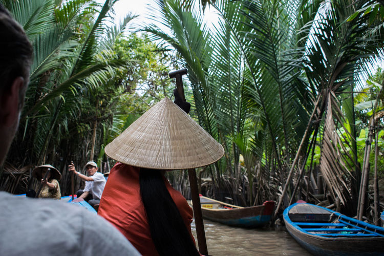 Mekong Delta Mekong River Beauty In Nature Day Leisure Activity Men Nature Nautical Vessel Outdoors People Real People Tree Water Women Done That.