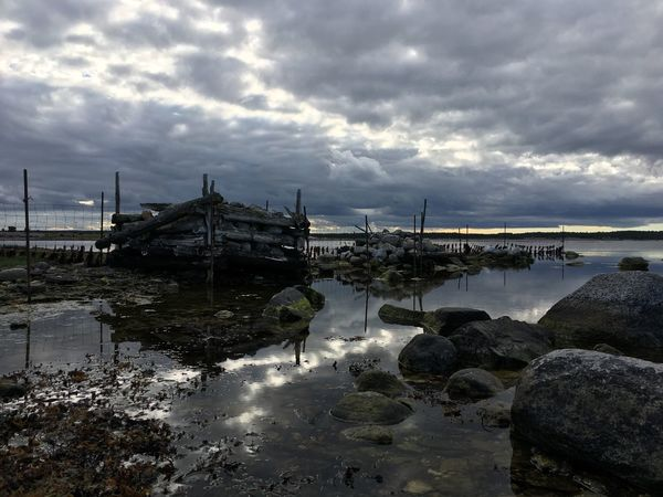 Water Cloud - Sky Sky Rock - Object Cloudy Scenics Tranquility Tranquil Scene Nature Sea Beauty In Nature Cloud Atmospheric Mood Waterfront Day Remote Eye4photography  EyeEmBestPics My Photography Sweden Östersjön Baltic Sea My Point Of View My Photos Purist No Edit No Filter