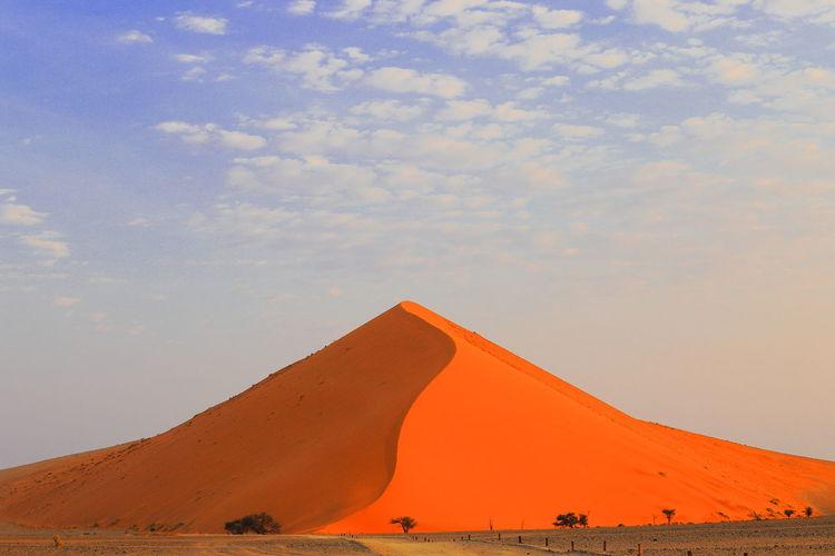 Desert Namibia Sossusvlei Desert - Namibia Landscape Sky Sunset