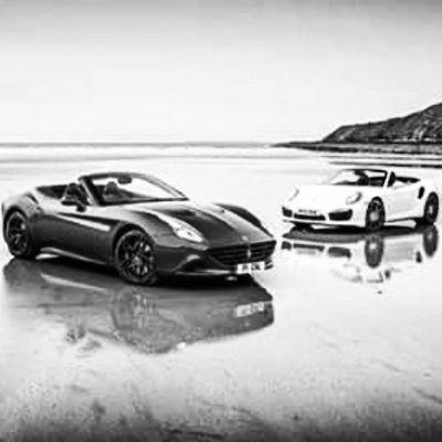 Ferrari California T and Porsche 911 Turbo Ferrari California T Porsche 911 Turbo Bw Supercars Cashfollowparty Summerfollowparty