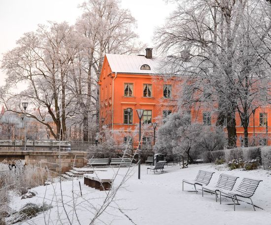Uppsala Sweden Eye4photography  Architecture Winter Snow EyeEm Best Shots Orange By Motorola