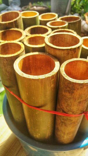 Hollowed bamboo