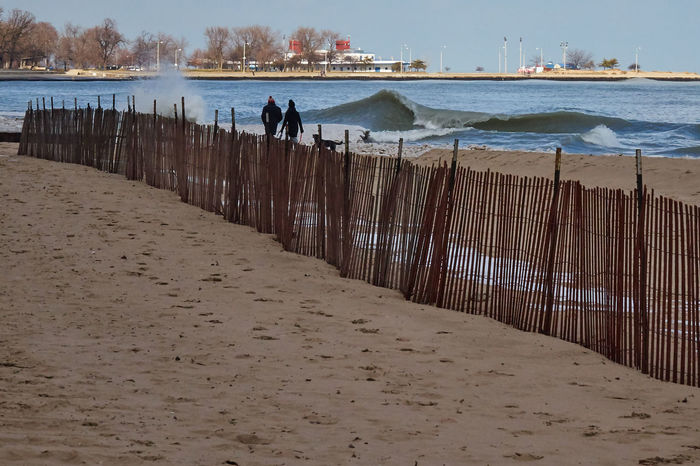 Beach Chicago Lakefront Leisure Activity Off Season Outdoors Pattern Sand Stormy Weather Tranquility Waves