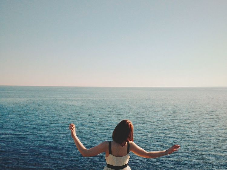 Eye4photography  Freedom Summer Views IPhone Landscape_photography Landscape_Collection Summer Girl Sea Italy Pastel Power Woman Who Inspire You Outdoor Photography Outdoors Sea And Sky Sea View The Portraitist - 2016 EyeEm Awards Breathing Space