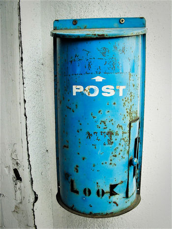 Blue Close-up Day EyeEm Mailbox No People Object Outdoors White Color