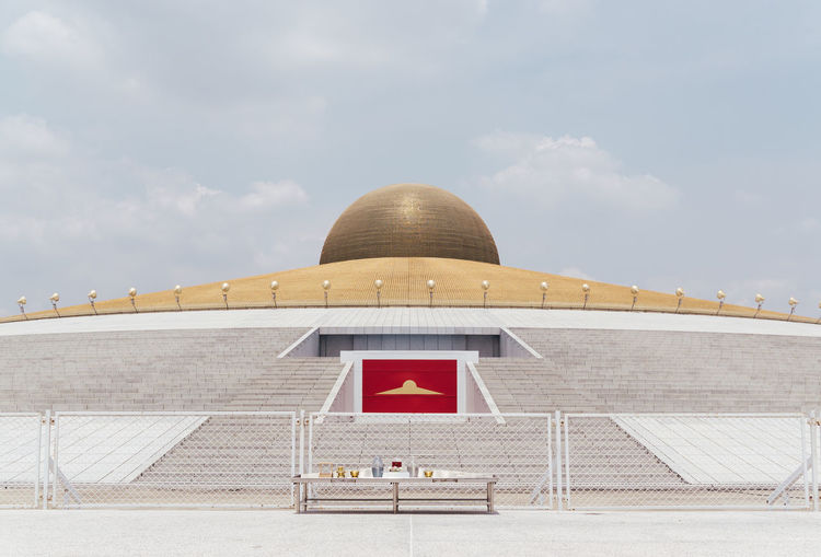 Architecture Buddhism Buddhist Temple Building Exterior Built Structure Cloud - Sky Day Gold Minimalism No People Outdoors Sky Temple