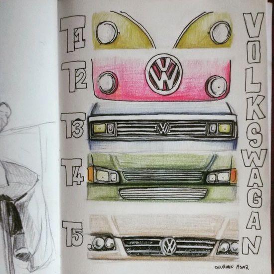 Volkswagen T1 T2 3 Classic VW Bus Kuru Boya