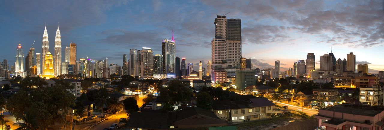 Live For The Story panoramic sunset of Kuala Lumpur City Panorama Kuala Lumpur City Cityscapes Kuala Lumpur Malaysia DBKL Skyscraper Architecture Building Exterior Tall - High Cityscape City Sky Modern Built Structure Tower Urban Skyline Night Nightscapes Outdoors Travel Destinations ASIA The Architect - 2017 EyeEm Awards