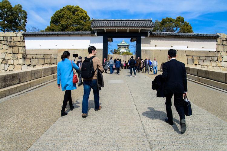 Osaka Castle Osaka-shi,Japan Architecture Casual Clothing People Real People
