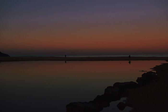 Sea Seascape Skyscape Landscape Orange Horizon Horizon Reflection Sky Sunset Calm Coast Sandy Beach Ocean Romantic Sky Dramatic Sky