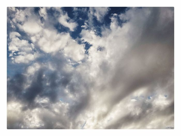 Sky Cloud - Sky Beauty In Nature Nature Low Angle View Cloudscape Scenics No People Backgrounds Outdoors Day Tranquility Sky Only Full Frame