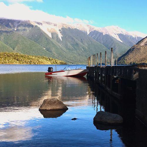 Beautiful picture taken at Lake Rotoiti New Zealand Nature Water Lake Tranquility NZ Mountain Scenics Nautical Vessel First Eyeem Photo