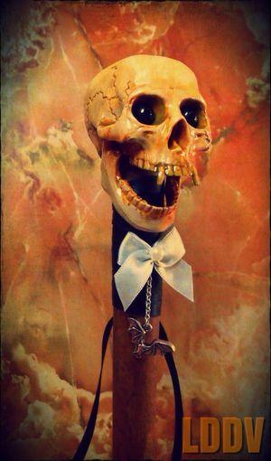 """Hand made """"vampire's cane"""" Handmade Vampire Halloween Skull"""