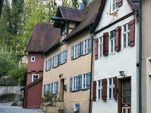 Ancient Bavaria City Cityscape Dinkelsbuhl Famous Façade Houses Road Romantic Travel Architecture Building Exterior Built Structure History House Medieval No People Romantischestrasse Street Tourism Town Window