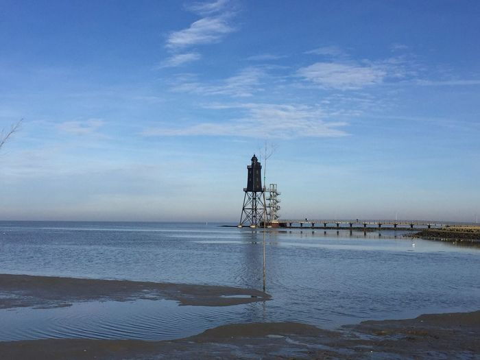 Leuchtturm Built Structure Lighthouse Lighthouse Lighthouse_lovers Light Lighthouse_captures Sea Water Cloud - Sky Horizon Over Water Day Outdoors Architecture