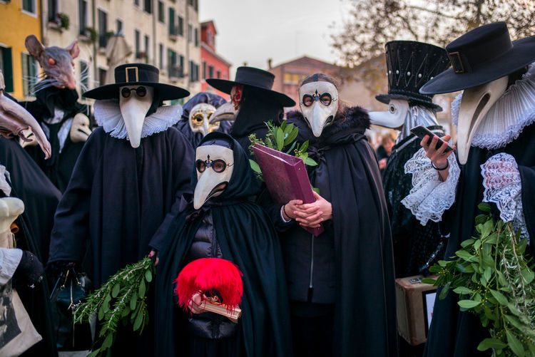 Festa della Madonna della Salute Fighting The Pest Masks Theater Costumes Day History Masquerade Outdoors Real People Street Parade
