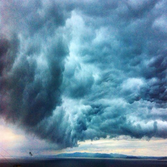 Cloud - Sky Sky Scenics Nature Weather Beauty In Nature Dramatic Sky Atmospheric Mood Tranquil Scene Majestic Tranquility Cloudscape No People Outdoors Storm Cloud Day Landscape Power In Nature Thunderstorm Sea
