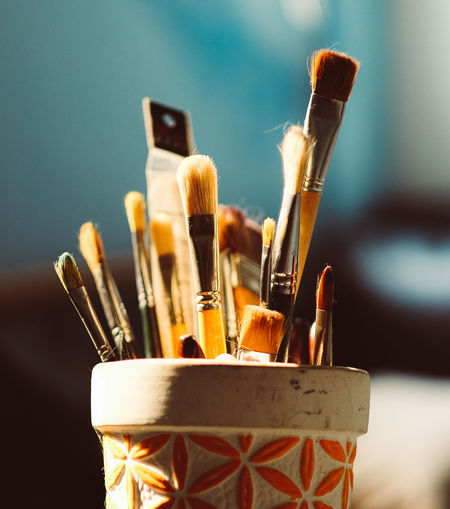 Art Brush Chasinglight Choice Close-up Colors Desk Organizer Enjoying The Sun Eye4photography  EyeEm EyeEm Best Edits EyeEm Best Shots EyeEm Gallery EyeEmBestPics Focus On Foreground Hoang Ann Large Group Of Objects No People Paint Painting Variation