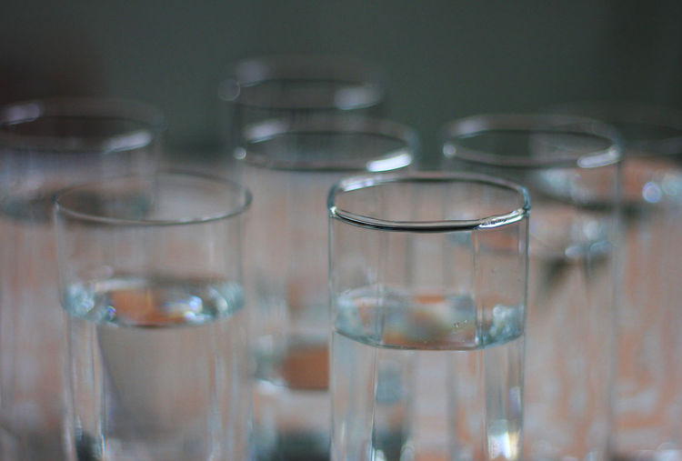 Glasses of water, close up